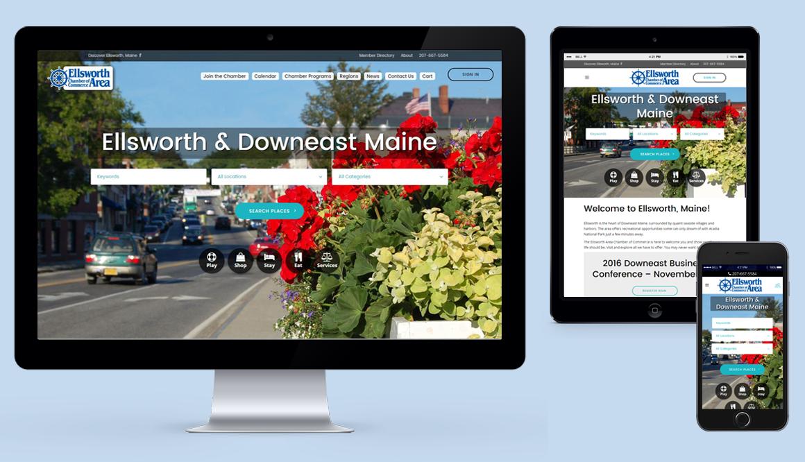 Ellsworth Area Chamber of Commerce - Responsive Website
