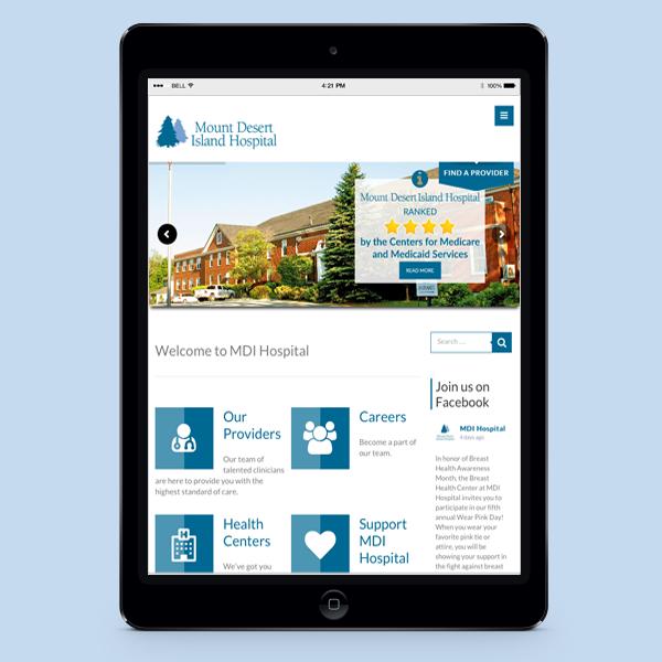 MDI Hospital - Tablet Website - REACH Maine Marketing