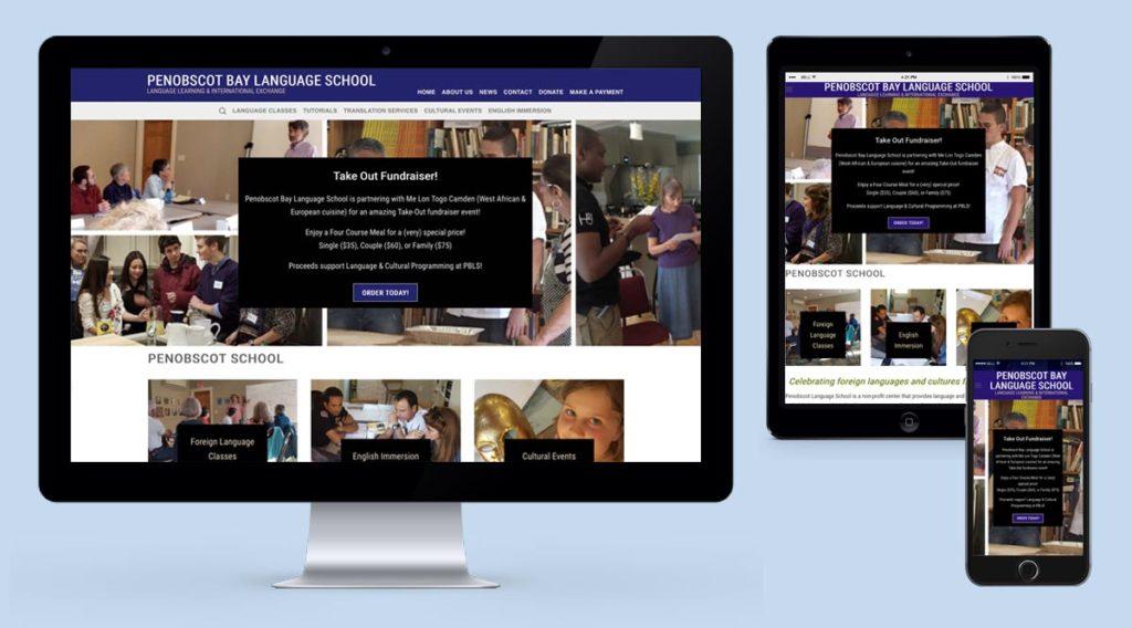 penobscot bay language school website screens